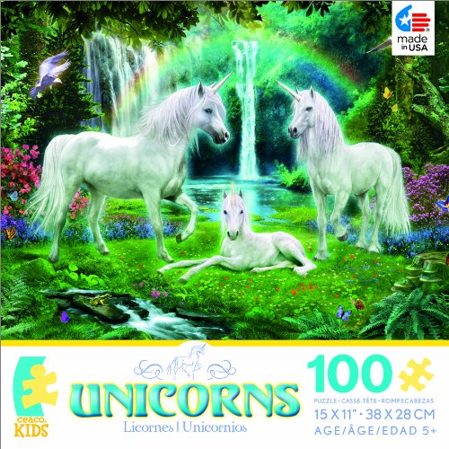 Unicorns Rainbow and Unicorn Family Jigsaw Puzzle