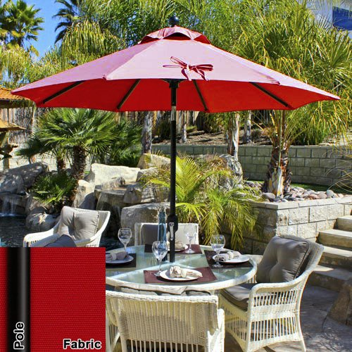 Delicieux 7.5 Foot Deluxe Auto Tilt Suncrylic Patio Umbrella (Crimson Red/Black  Frame). By Patio Shoppers