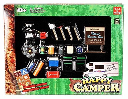 Happy Camper - Phoenix Garage Diorama Accessory Set 18430 - 1/24 scale diecast car diorama accessory (Camper Model Kits compare prices)