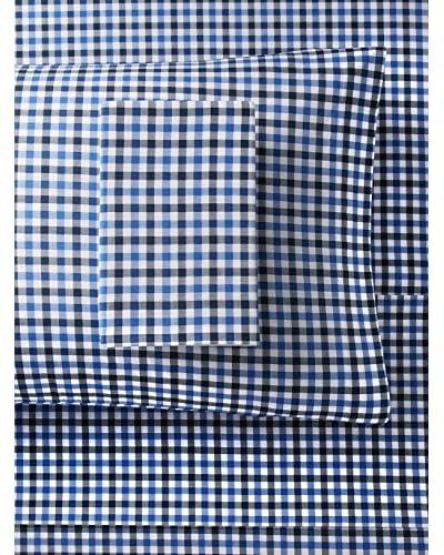 Nautica Millwood Wrinkle-Resistant Sheet Set, Blue, Queen