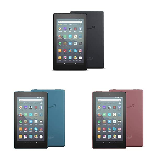 All-New Fire 7 Tablet 3-pack (7 display, 32 GB) - Black/Blue/Plum (Color: Black/Blue/Plum)