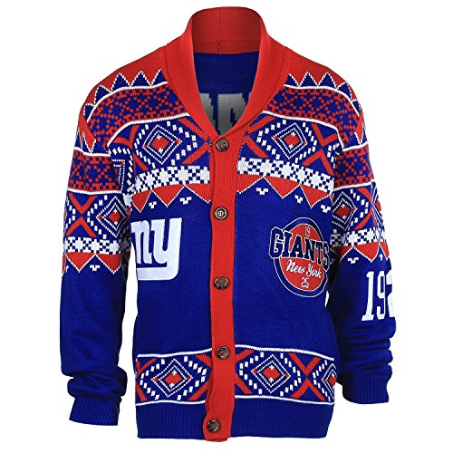 Men's New York Giants Ugly Sweater Slippers