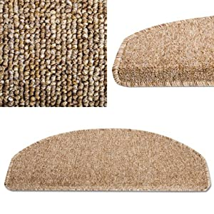 Stufenmatten Set London - 15 Stück - braunbeige