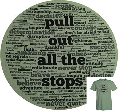 Pull Out All The Stops Inspirational Men's T-Shirt made our list of camping gifts couples will love and great gifts for couples who camp
