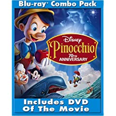 Pinocchio (2-Disc 70th Anniversary Platinum Edition + Standard DVD) [Blu-ray]
