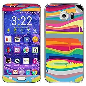 Theskinmantra Rainbow Paint Samsung Galaxy S6 Edge Plus mobile skin