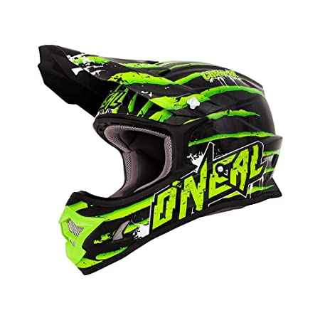 O'Neal - Casque cross - SERIES 3 CRAWLER - Taille : M - Couleur : Black/Green