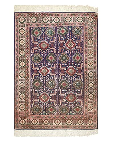 The Rug Market Tabriz Khoshkel Rug, Green/Navy/Red, 3' 5 x 4' 10