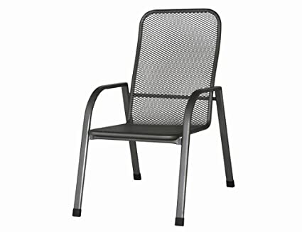 siena garden 680168 stapelsessel chento 75 x 60 x 95 cm stahlgestell graphit streckmetall. Black Bedroom Furniture Sets. Home Design Ideas