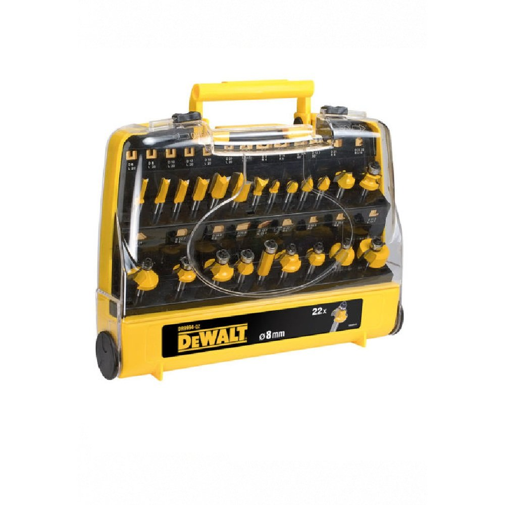 DeWalt 22tlg. Fraeserset DR9994QZ 8 mm Schaft in Aufbewahrungsbox  BaumarktÜberprüfung und weitere Informationen