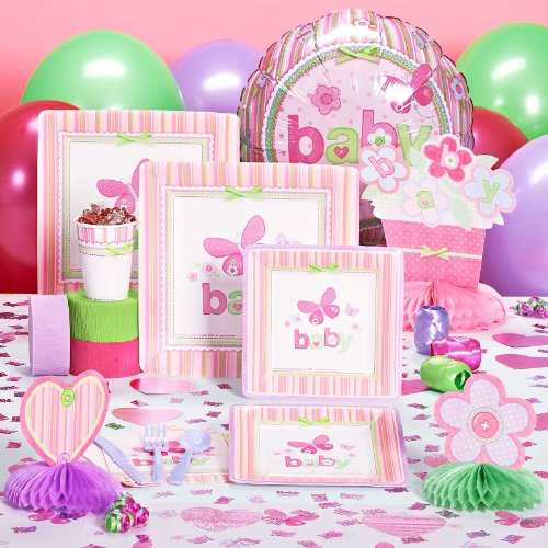 carter 39 s baby girl baby shower deluxe party pack for 16