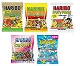 Haribo Sour Gummi Variety Pack (5 Bags)