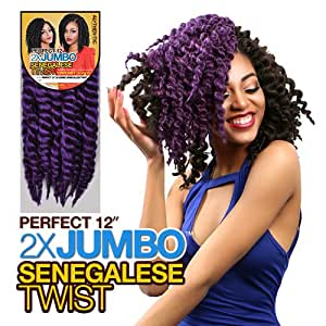 Amazon.com : Authentic Synthetic Hair Crochet Braids Perfect 12 2X ...