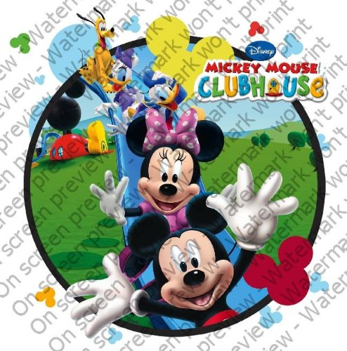 "6"" Round ~ Mickey Mouse Clubhouse Fun ~ Edible Image Cake/Cupcake Topper!!!"