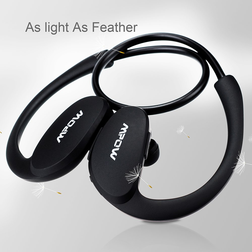 [New Version] Mpow® Cheetah Sport Bluetooth 4.0 Wireless Stereo Headset Headphones Earphone Earbuds with AptX,Microphone Hands-free Calling, for Running Work with Apple iPhone 6, 6 Plus, 5 5c 5s 4s iPad iPod Touch, Samsung Galaxy S5 S4 S3 Note 3 2 and Android