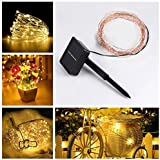 Solar Powered String Light, 100 LEDs Starry String Lights, Indoor/Outdoor Copper Wire Lights Ambiance Lighting...