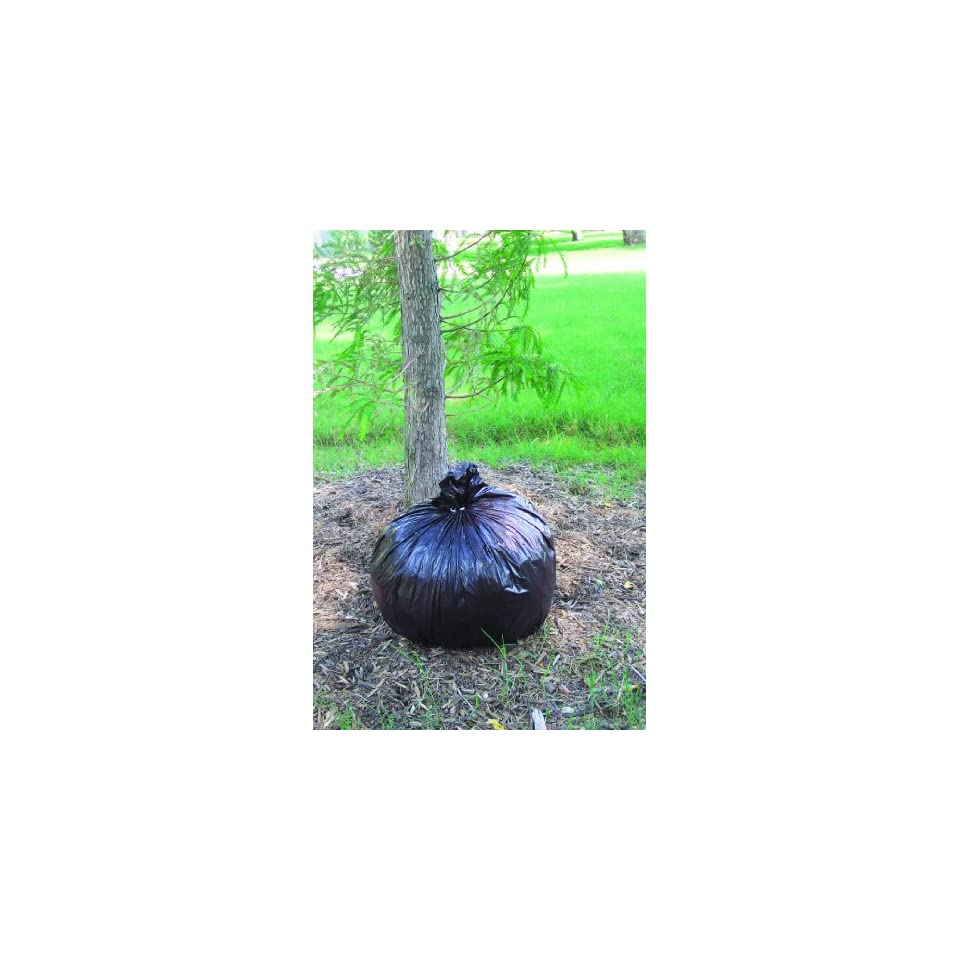"""SKILCRAFT 8105 01 386 2329 Extra Heavy Duty Total Recycled Content Bag, 48"""" Length x 40"""" Width, Brown/Black (Case of 100)"""