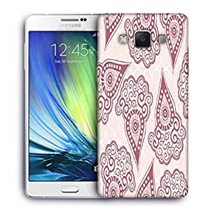 Snoogg Maroon Pattern Designer Protective Phone Back Case Cover For Samsung Galaxy A7