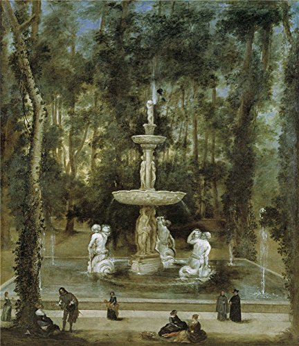 Oil Painting 'Velazquez Diego Rodriguez De Silva Y (Workshop) La Fuente De Los Tritones En El Jardin De La Isla De Aranjuez 1657' 8 x 9 inch / 20 x 24 cm , on High Definition HD canvas prints, decor (Leopard Print Tea Kettle compare prices)