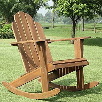 Linon Woodstock Rocking Chair, Teak
