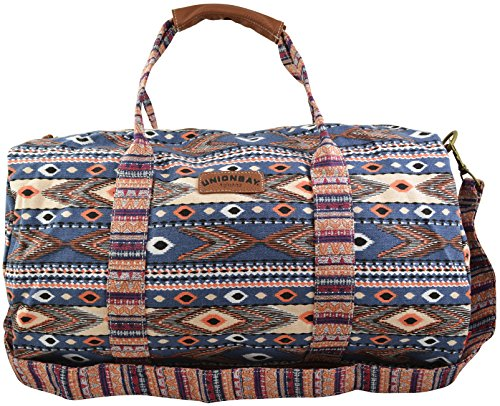 "BOHO Travel Gym Duffle Bag 19"" in Canvas Material with Aztec Tribal Print"