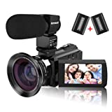 4K Video Camera Camcorder, Kenuo 48MP Portable Ultra-HD 60FPS WiFi Digital Camera 3.0