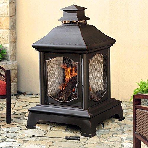 Sunjoy-L-CM057PST-Lantern-Style-Steel-48-Fireplace