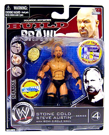WWE Wrestling Build N' Brawl Series 4 Mini 4 Inch Action Figure Stone Cold (Wwe Build N Brawl Ring compare prices)