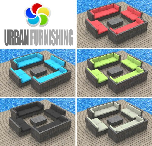 Urban-Furnishing-BERMUDA-11pc-Modern-Outdoor-Backyard-Wicker-Rattan-Patio-Furniture-Sofa-Sectional-Couch-Set