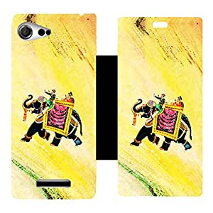 Phone Candy Designer Flip Cover with hi-res printed Vinyl sticker wrap-around for Sony Xperia E3