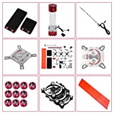 Water Cooling Kit,DIY Liquid Cool Parts,Contains All The Bits Need to Customise Water Cooling Set,Liquid Cooling Give Much Better Cooling Performance (Color: default)
