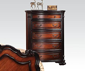 Le Havre Traditional Five Drawer Chest in Two-Tone Brown by Acme Furniture