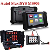 ICARSCANNER Original Autel Maxisys MS906 Wifi Automotive Diagnostic Scanner Update Online for Almost All Vehicle With Read,Diagnose,Service,Engine,Transmission,ABS,Airbag Functions