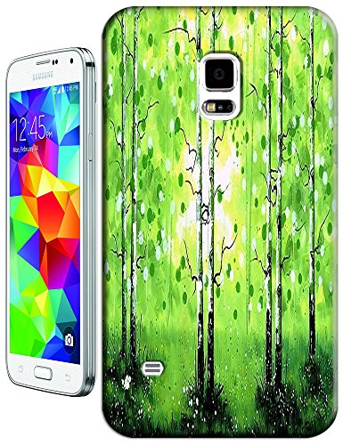 New High Quality Fashion Colorful Tree Abstract Oil Painting Design Phone Cases For Samsung Galaxy S5 I9600 No.5