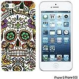 OBiDi - Skull Pattern Hardback Case for Apple iPhone 5S / Apple iPhone 5 - Beautiful Sugar Skull
