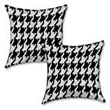 "Black And White Art 16''x16"" Inches Set Of Two Cushion Cover By BS"