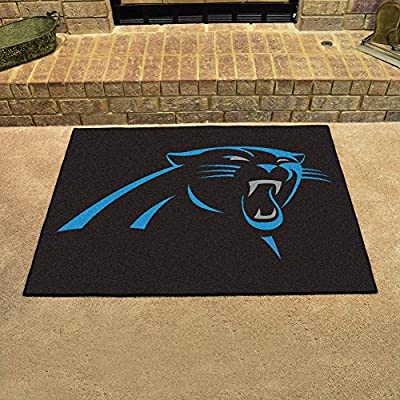 "Fan Mats 5694 NFL - Carolina Panthers 34"" x 45"" All-Star Series Area Rug / Mat"