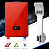 Electric Instant Hot Water Heater Boiler w/Shower Nozzle Kit, 6500W 220V Tankless Water Heater Warmer, 30-55? Adjustable Hot Watering System Bathroom Shower Faucet
