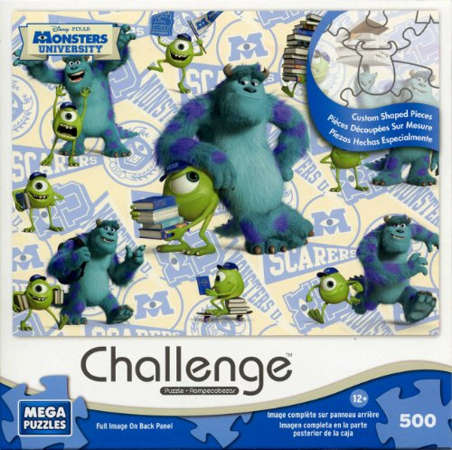 "Mega Puzzles - ""Challenge"" Monsters University- Jigsaw Puzzle 500 Pieces - Pixar"
