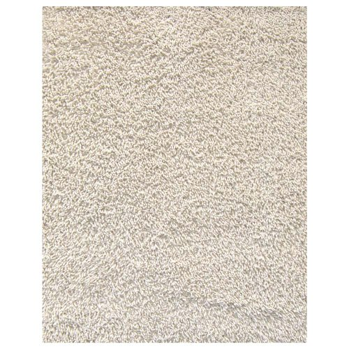 Anji Mountain Bamboo Chairmat & Rug Co. 8-Foot-by-10-Foot Silky Shag Area Rug, Ivory