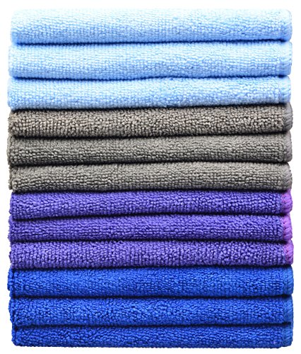 sinland-multi-purpose-microfibre-cleaning-cloths-30cmx30cm-pack-of-12-assorted-colors