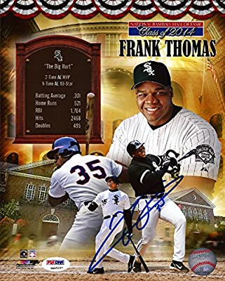 Frank Thomas Autographed 8x10 Photo Chicago White Sox Psa/dna Stock #83679