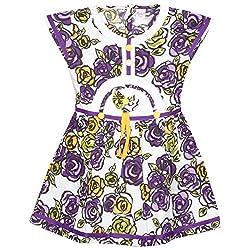 Rush Me Baby Girls' Dress (S.R.2007_4 Years, 4 Years, Voilet)
