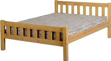 """Carlow 4'6""""cama en pino"""