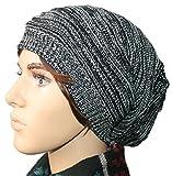 ニット帽 ワッチ キャップ メンズ レディース ニットキャップ 大きめ ビーニー /スキー スノボ ニット FBsn05 (ベネディモール) Bene di mall (Aタイプ 黒,)
