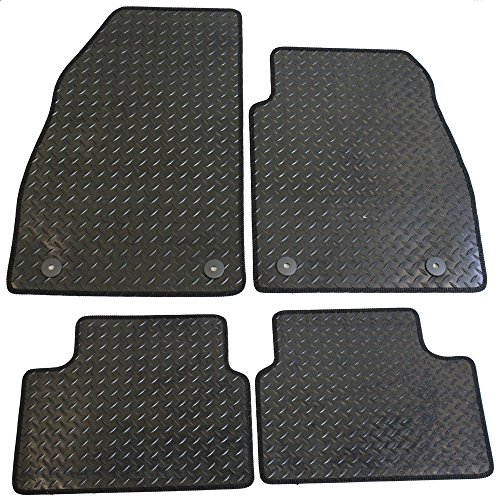 JVL Fully Tailored 4 Piece Car Mat Set with 4 Clips Black