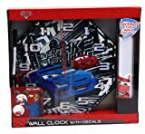 Disney Pixar Cars 2 Wall Clock with 3 Decorative Wall Decals PLUS 2 Dry-Erase Wall Decals plus Dry erase marker