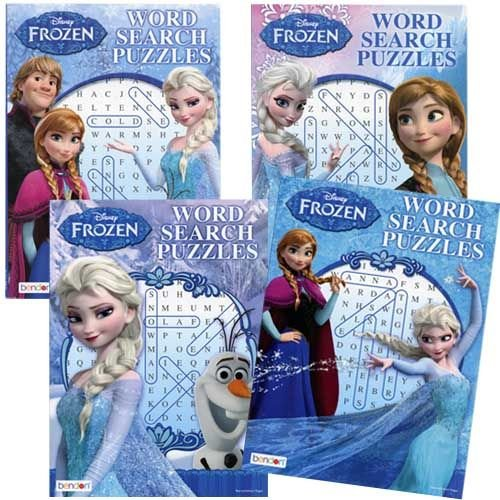 Frozen Word Search Puzzle x 4 - 1
