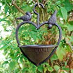 Cast Iron Hanging Heart Bird Feeder F...