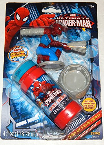 Marvel Ultimate Spiderman Dip N Blow Bubble with Spiderman Bubble Wand & Bubb... - 1